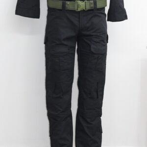 Pantalon tactico urbano estilizado con bolsa para rodillera importado Negro